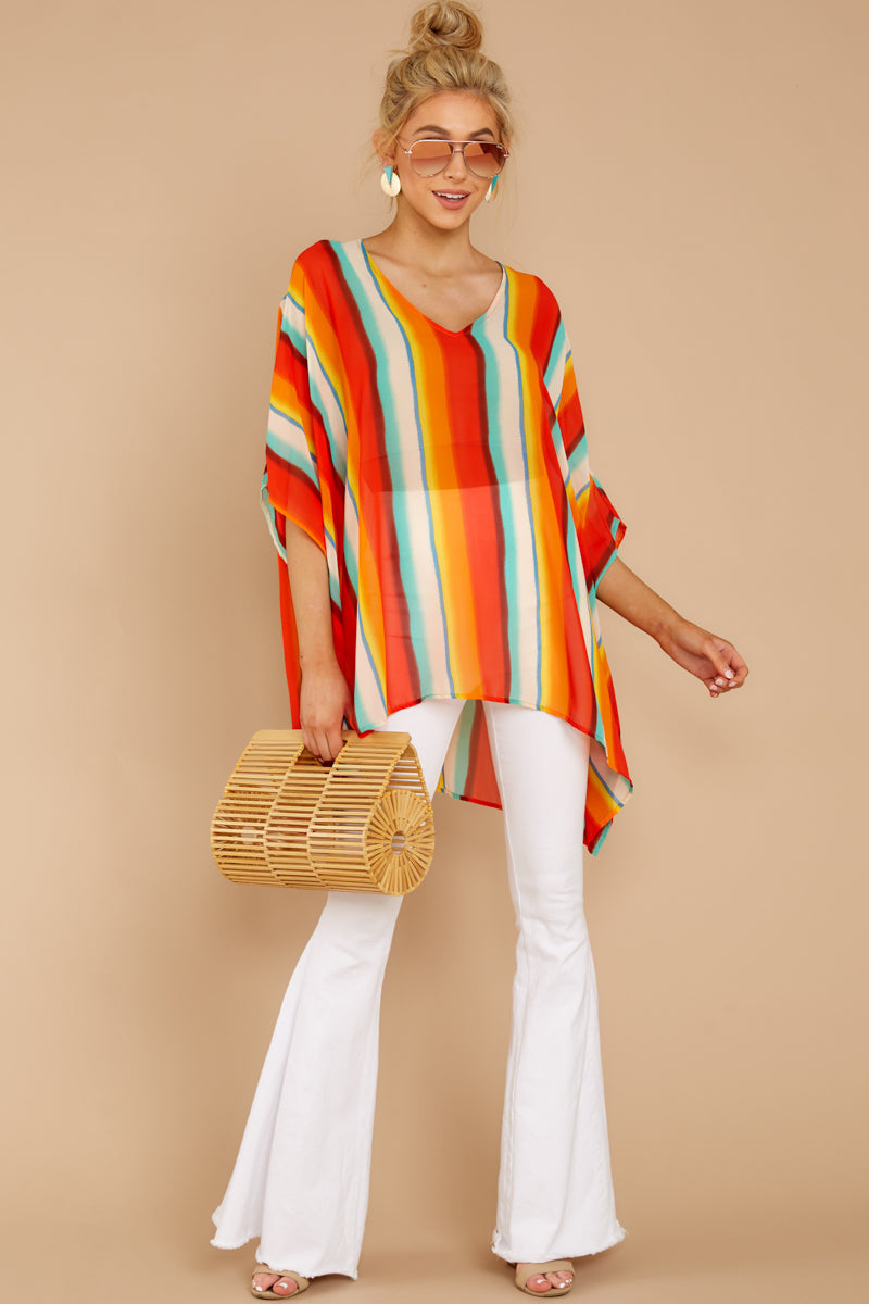 1 Sure Thing Poncho In Summer Heat at reddressboutique.com