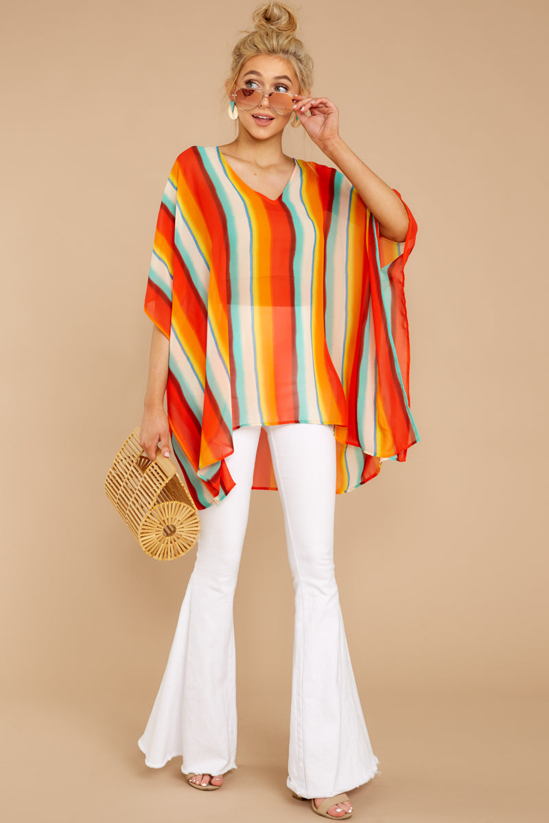 2 Sure Thing Poncho In Summer Heat at reddressboutique.com