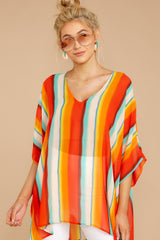 3 Sure Thing Poncho In Summer Heat at reddressboutique.com