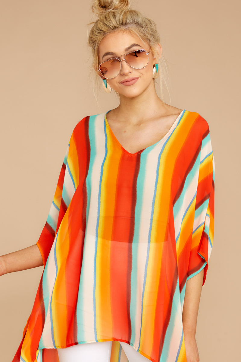 4 Sure Thing Poncho In Summer Heat at reddressboutique.com