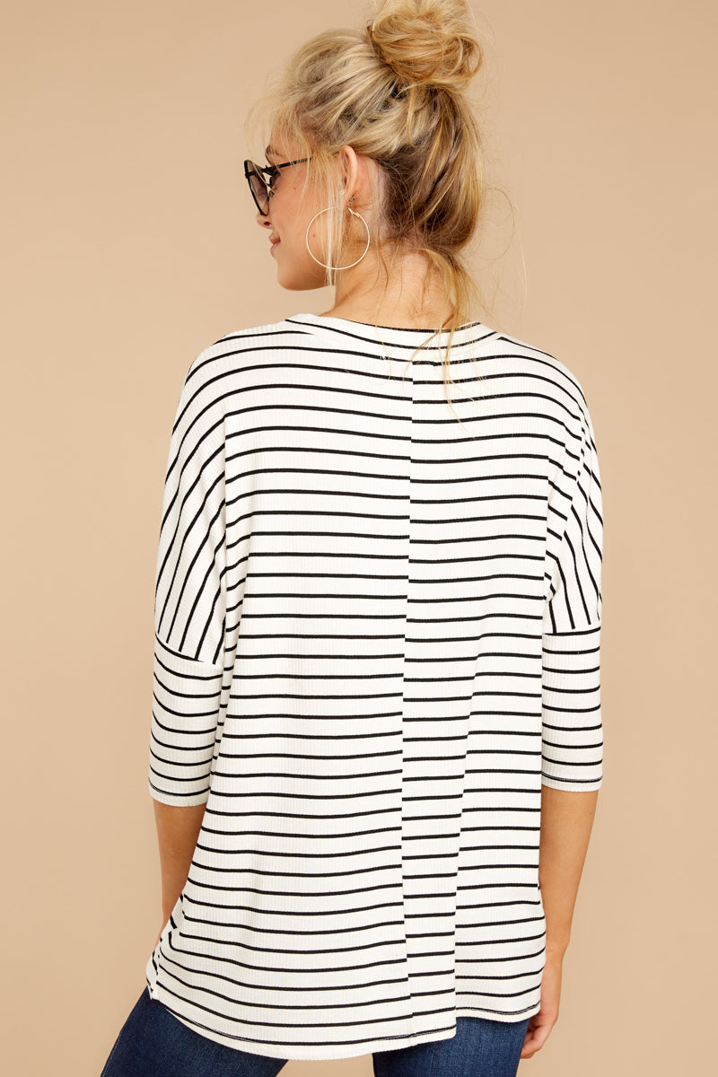 4 See This Smile White And Black Stripe Top at reddressboutique.com