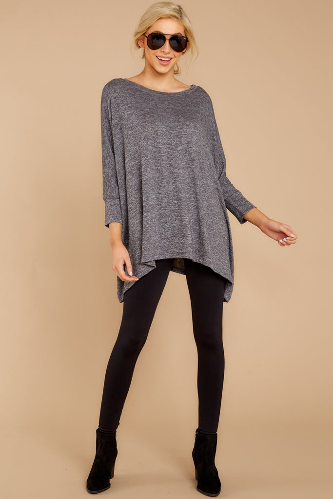 1 These Days Grey Top at reddressboutique.com