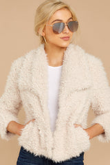 4 Night Out In The City Ivory Coat at reddressboutique.com
