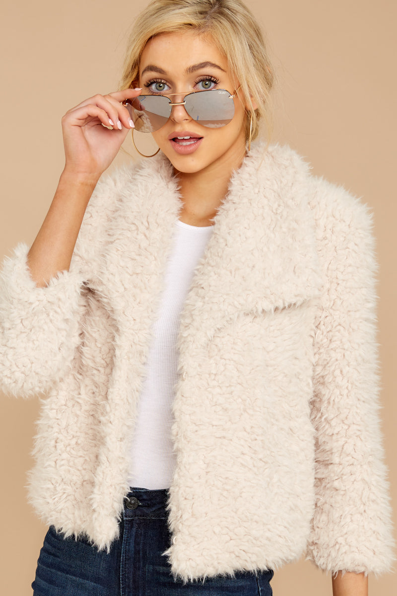 6 Night Out In The City Ivory Coat at reddressboutique.com
