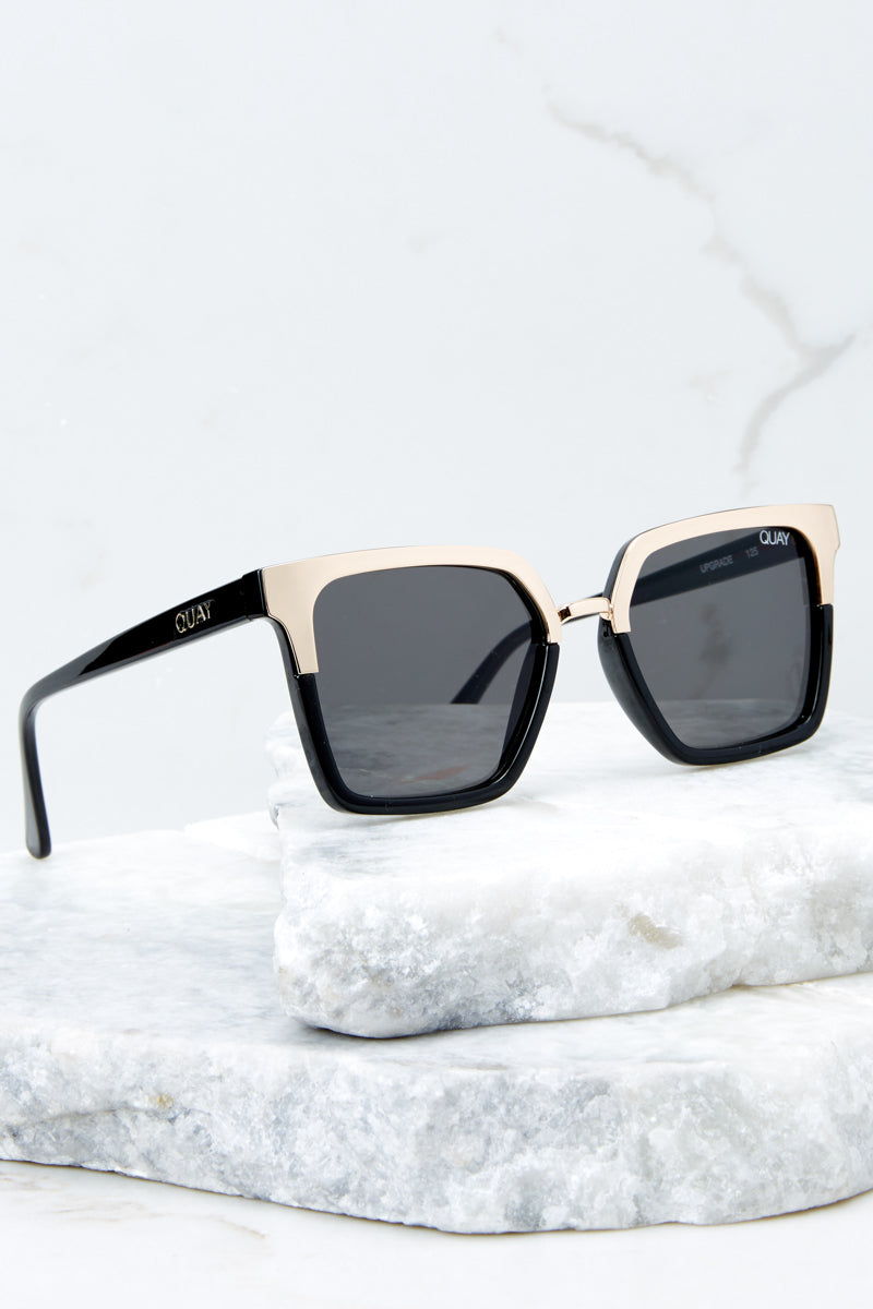 Quay x Jaclyn Hill Upgrade Gold And Black Sunglasses