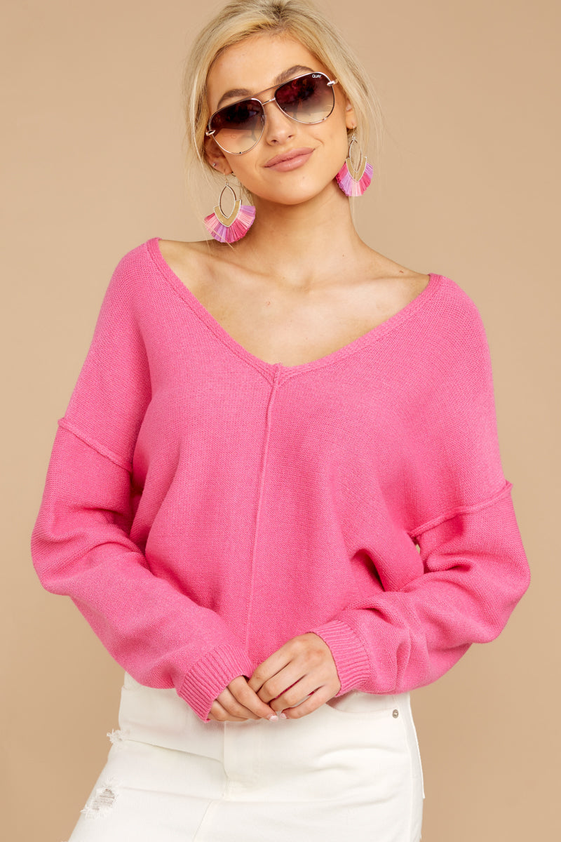Obsession With Love Bubblegum Pink Sweater