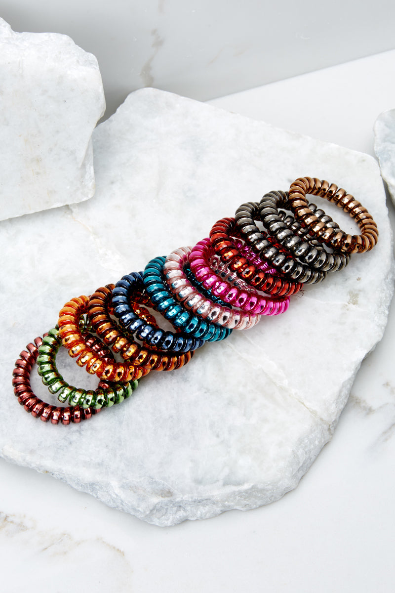On Hold Multi Colored Hair Tie Set