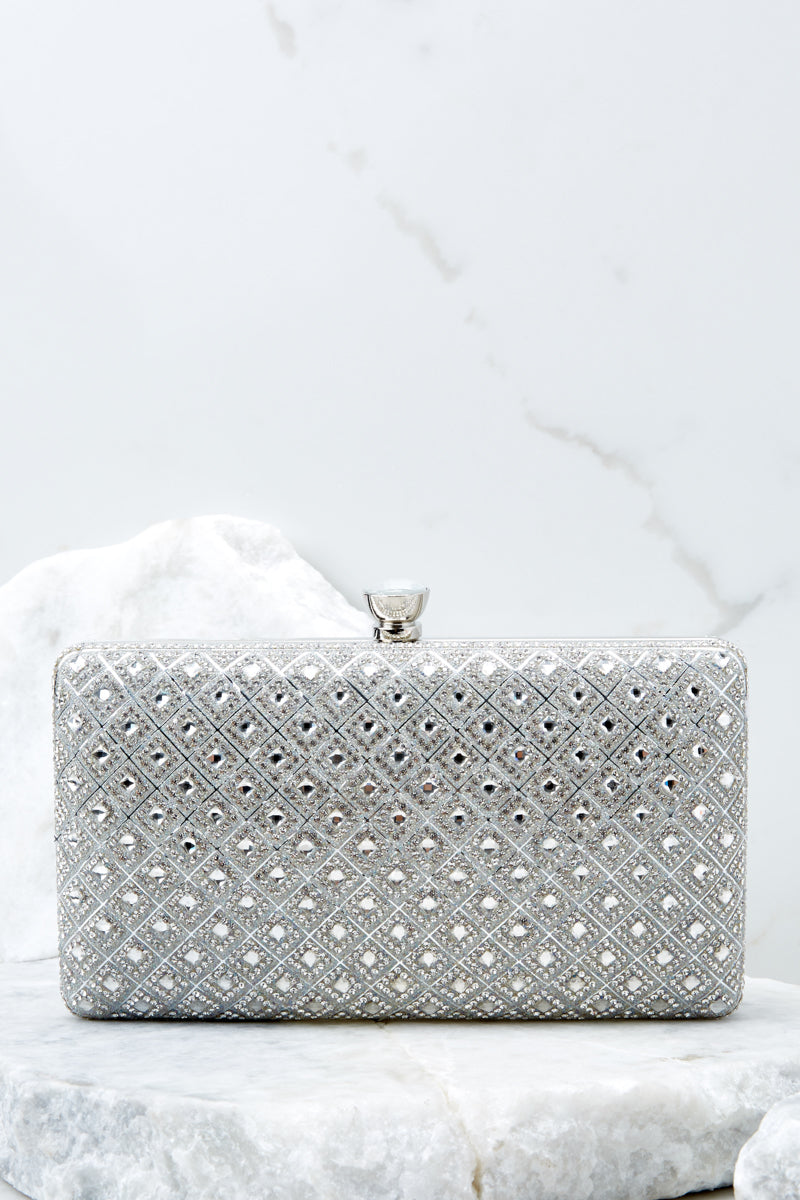 4 Statement Style Silver Clutch at reddressboutique.com