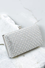 2 Statement Style Silver Clutch at reddressboutique.com