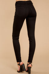 3 Can't Make Me Black Skinny Jeans at reddressboutique.com