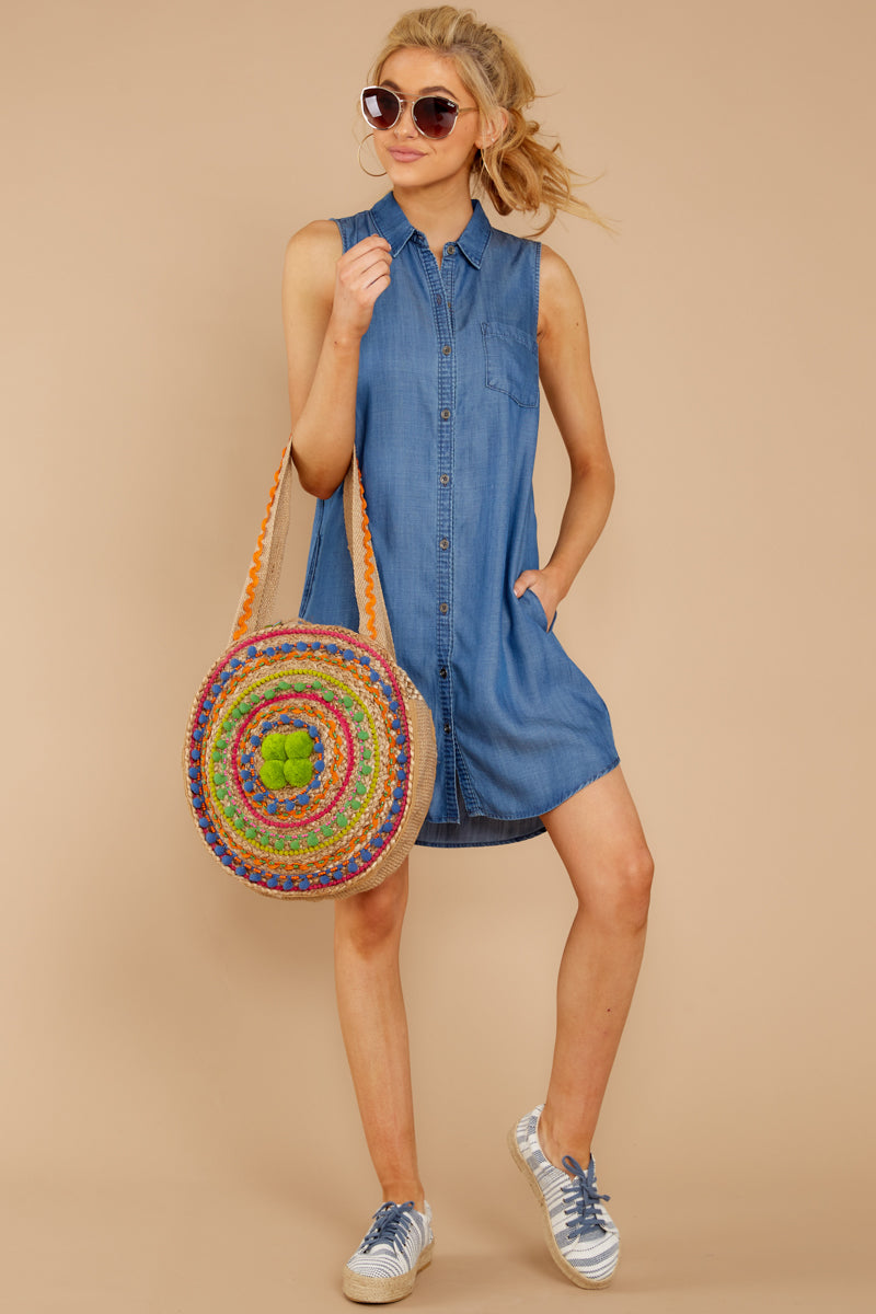 2  Sweetest Delight Chambray Button Up Dress at reddressboutique.com