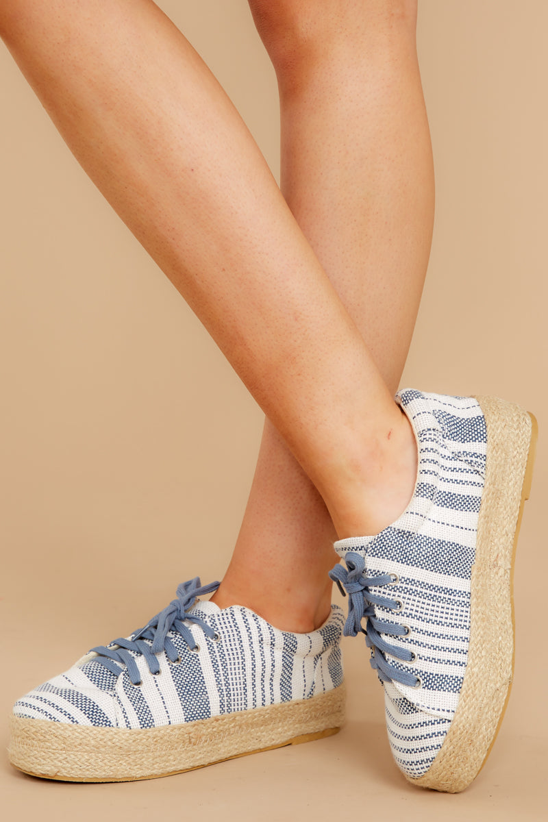1 Down To Earth Light Blue Flatform Sneakers at reddressboutique.com