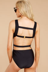 6 À La Plage Black One Piece Swimsuit at reddress.com