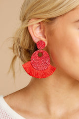 1 Better Than Fiction Red Earrings at reddressboutique.com