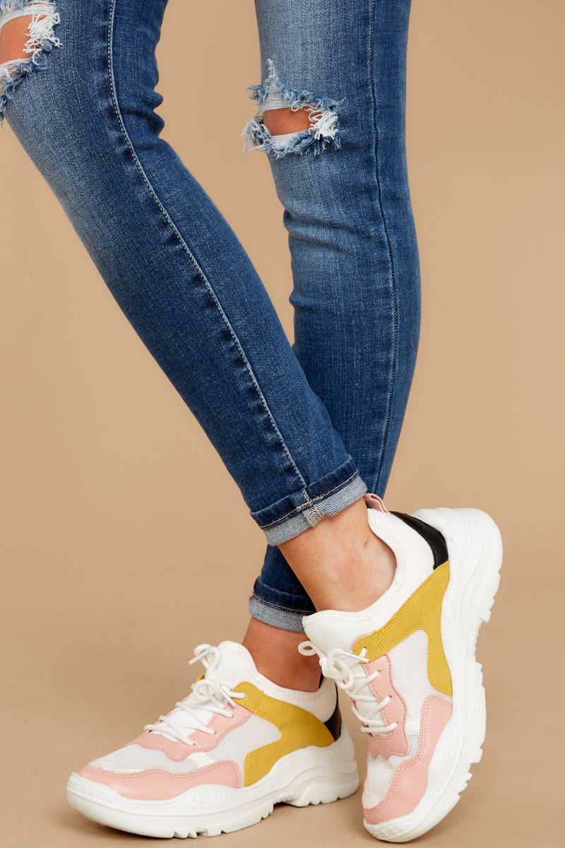 1 Colorful Soul White Multi Sneakers at reddressboutique.com