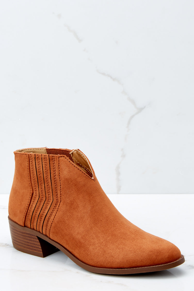 All The Rage Chestnut Ankle Booties