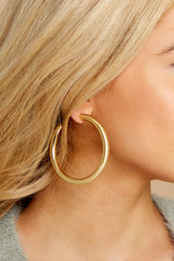 4 Fly Girl Gold Earrings at reddressboutique.com