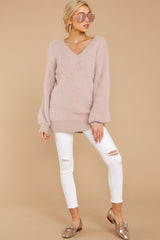 2 Feel It Still Blush Sweater at reddress.com