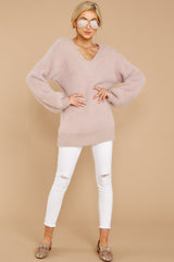 1 Feel It Still Blush Sweater at reddress.com