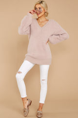 3 Feel It Still Blush Sweater at reddress.com