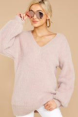 4 Feel It Still Blush Sweater at reddress.com