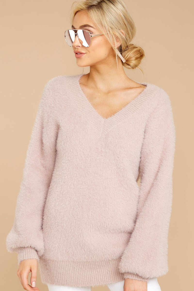 5 Feel It Still Blush Sweater at reddress.com