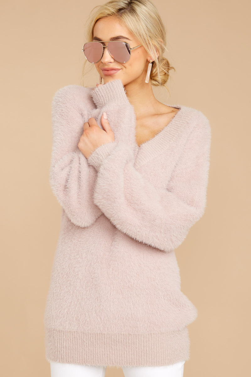 6 Feel It Still Blush Sweater at reddress.com