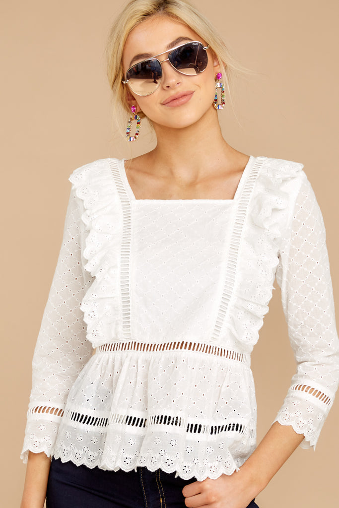 4 A Good Time White Lace Crop Top at reddressboutique.com