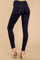 3 Leaving With This Dark Wash Skinny Jeans at reddress.com