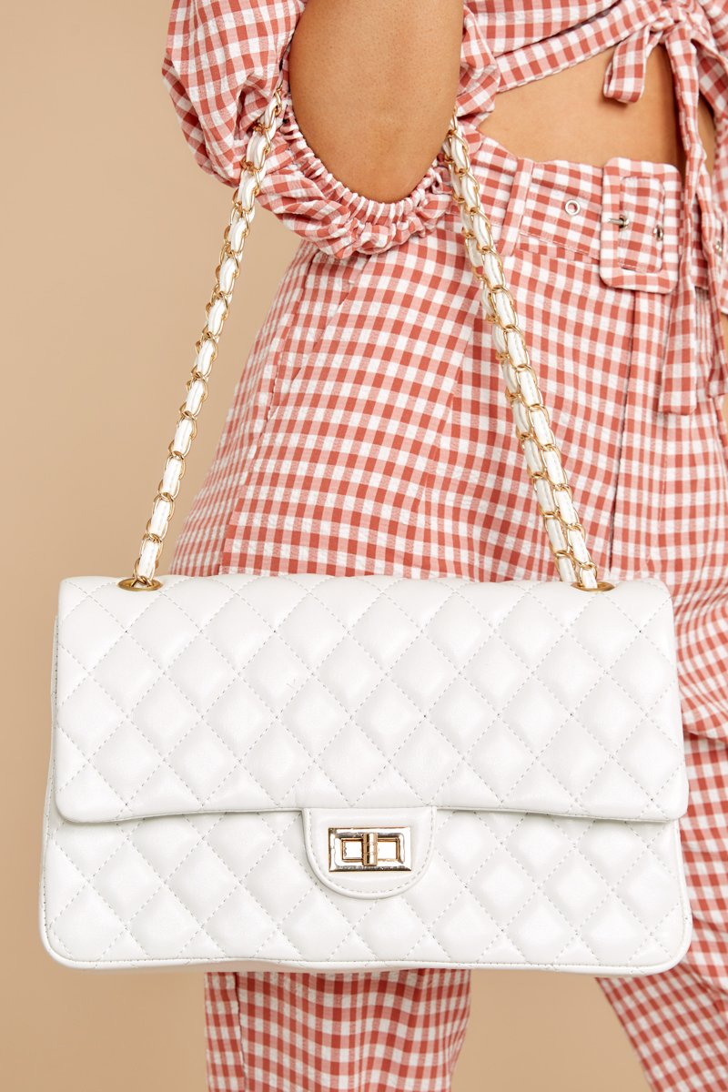 7 Carry My Love White Handbag at reddressboutique.com