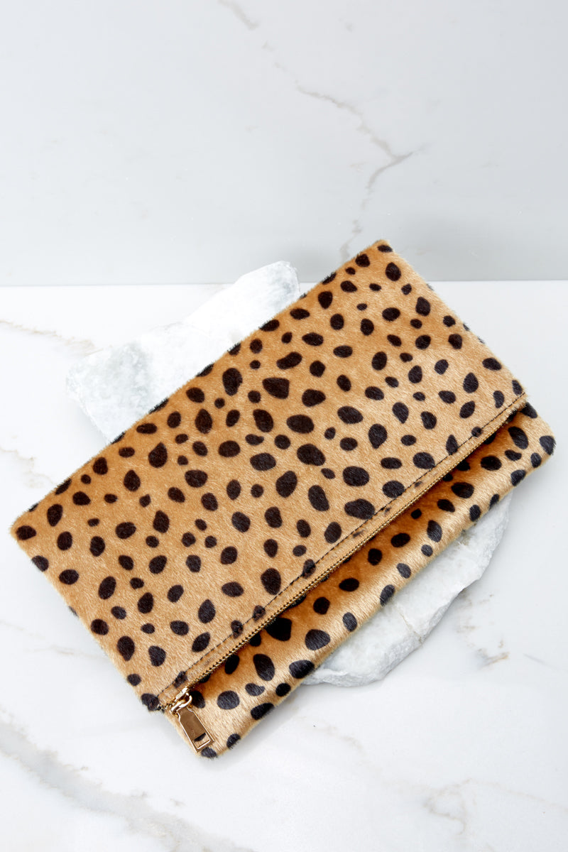 6 Concrete Jungle Cheetah Print Clutch at reddress.com