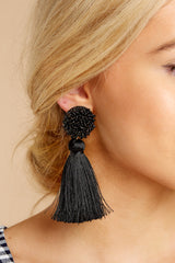 1 Give Me It All Black Statement Earrings at reddressboutique.com