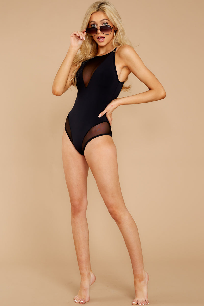 2 Seas The Day Black One Piece at reddress.com