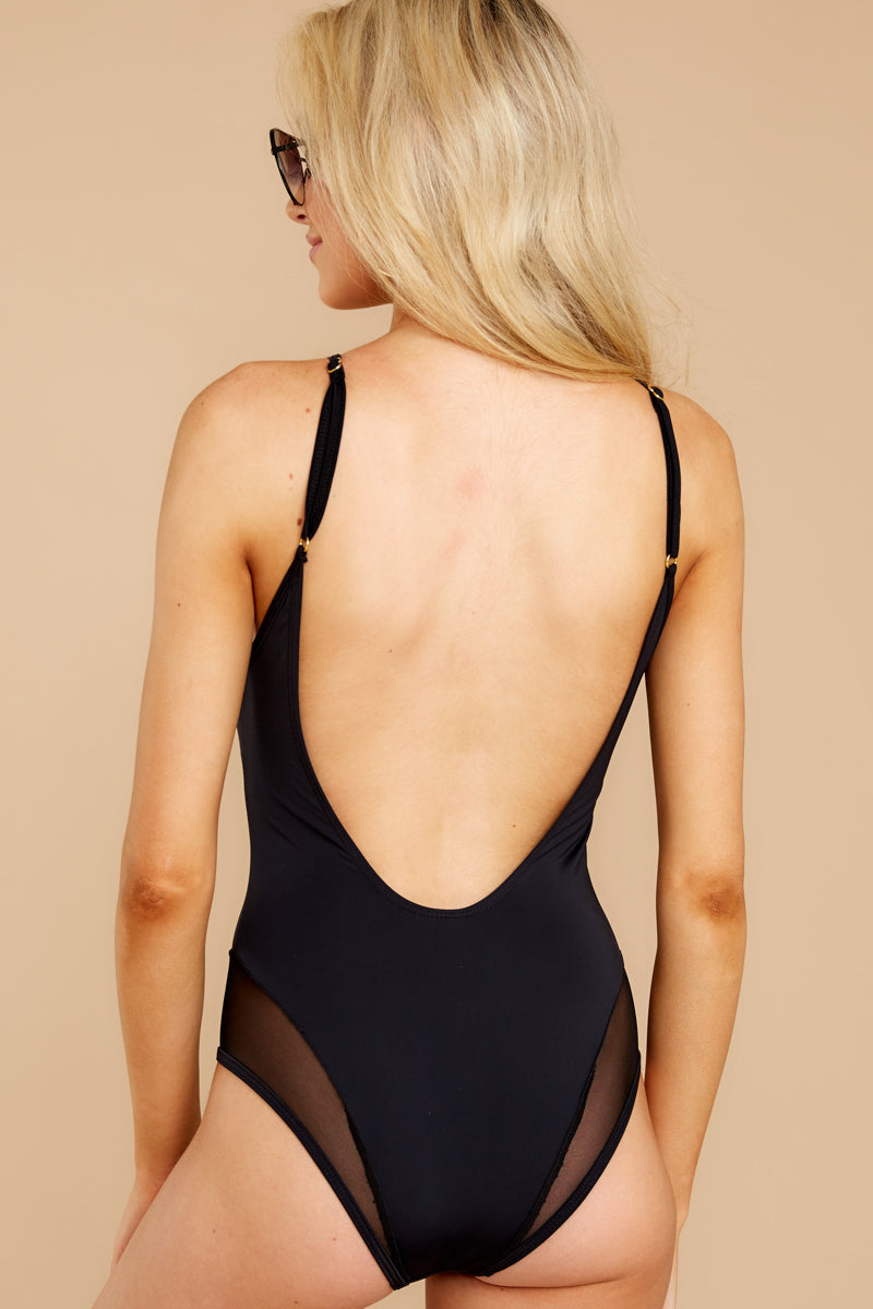 6 Seas The Day Black One Piece at reddress.com