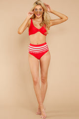 1 Faith In Myself Red Bikini Top at reddressboutique.com