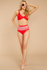 2 Faith In Myself Red Bikini Top at reddressboutique.com