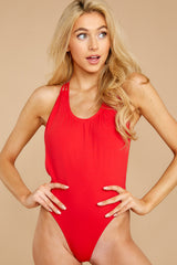 5 Rescue Me Red One Piece at reddressboutique.com