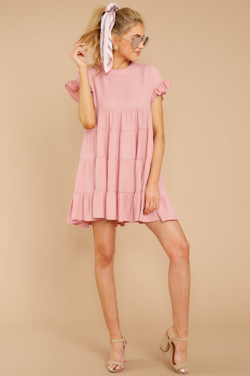 3 Nothing More Nothing Less Light Pink Dress at reddressboutique.com