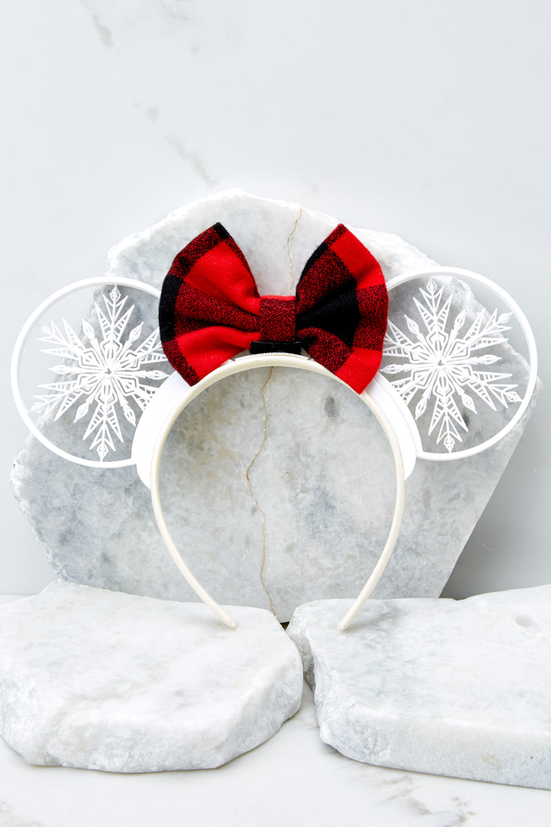 3 Baby It's Cold Outside With Buffalo Plaid Bow at reddressboutique.com