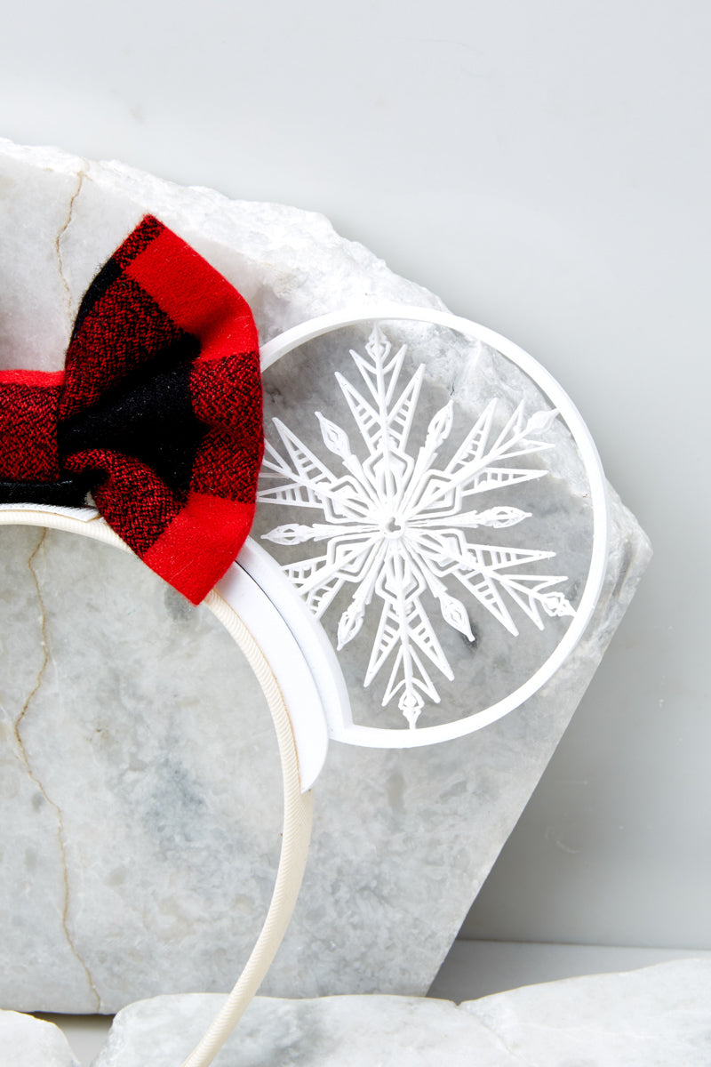 4 Baby It's Cold Outside With Buffalo Plaid Bow at reddressboutique.com