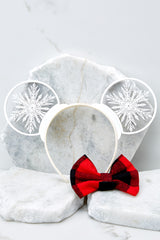 5 Baby It's Cold Outside With Buffalo Plaid Bow at reddressboutique.com