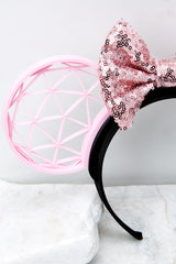 4 A Grand Throwback Bubblegum With Bubblegum Sequin Bow at reddressboutique.com