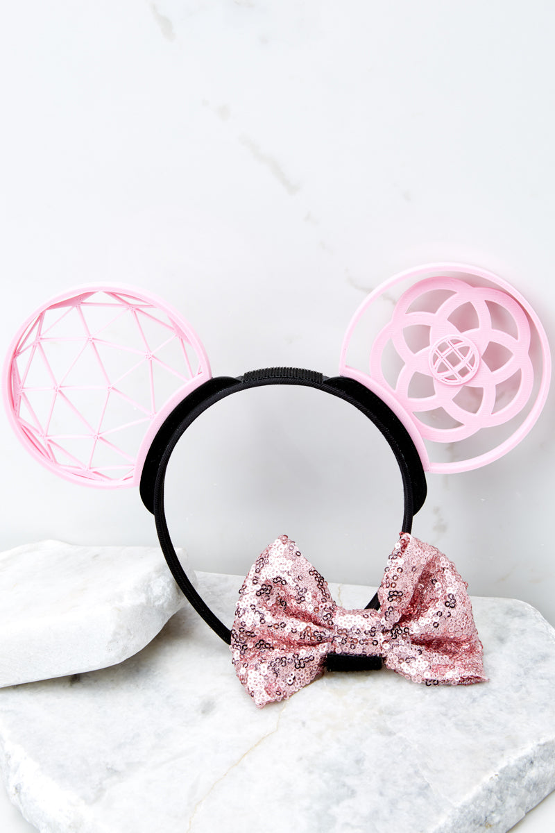 5 A Grand Throwback Bubblegum With Bubblegum Sequin Bow at reddressboutique.com