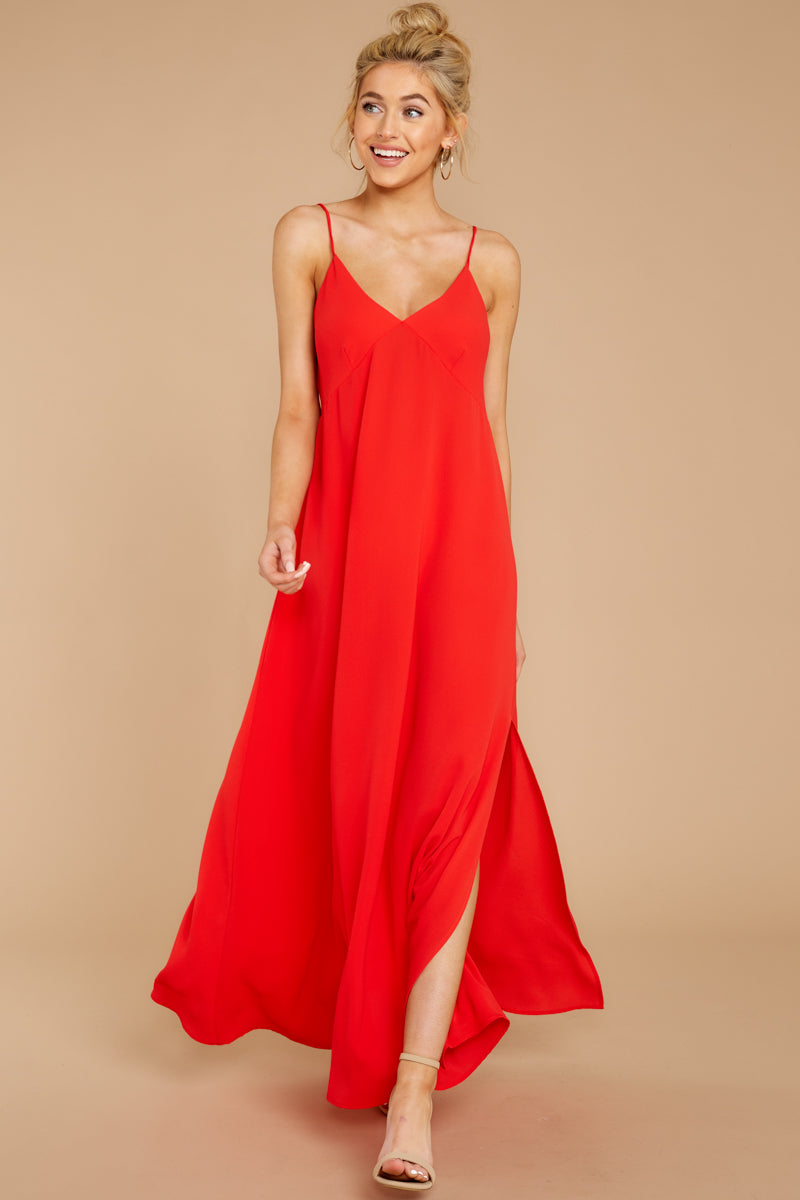 2 Wait And See Red Maxi Dress at reddressboutique.com