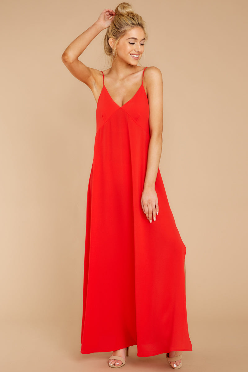 3 Wait And See Red Maxi Dress at reddressboutique.com