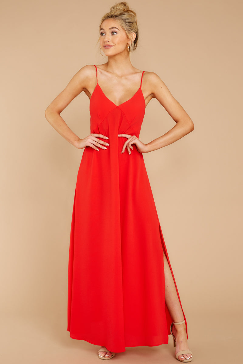 4 Wait And See Red Maxi Dress at reddressboutique.com