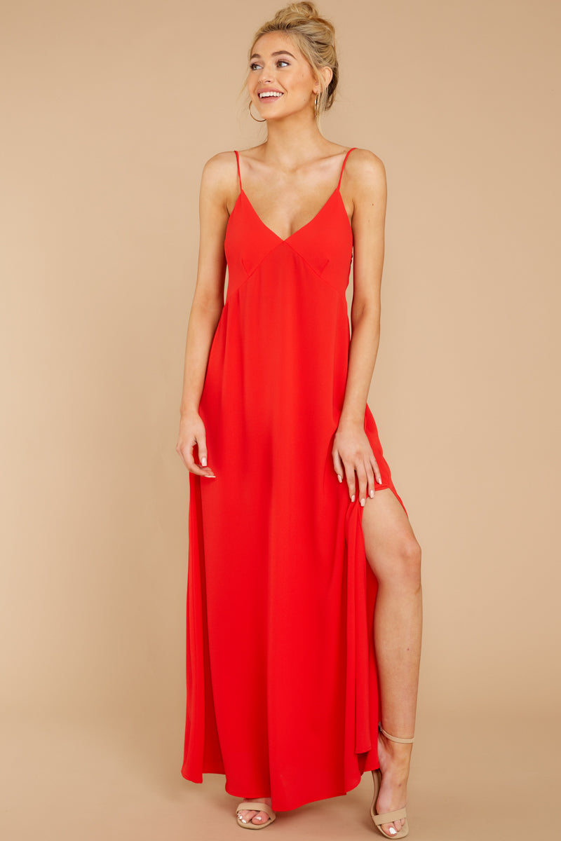5 Wait And See Red Maxi Dress at reddressboutique.com