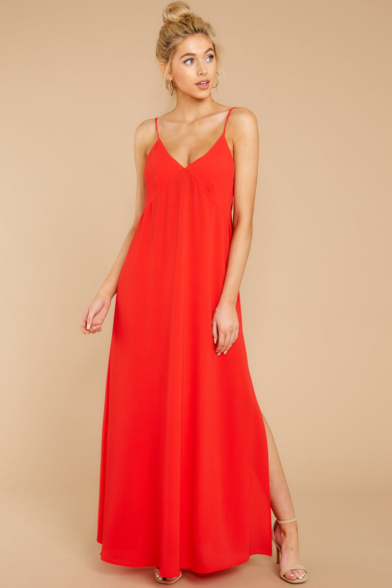 6 Wait And See Red Maxi Dress at reddressboutique.com