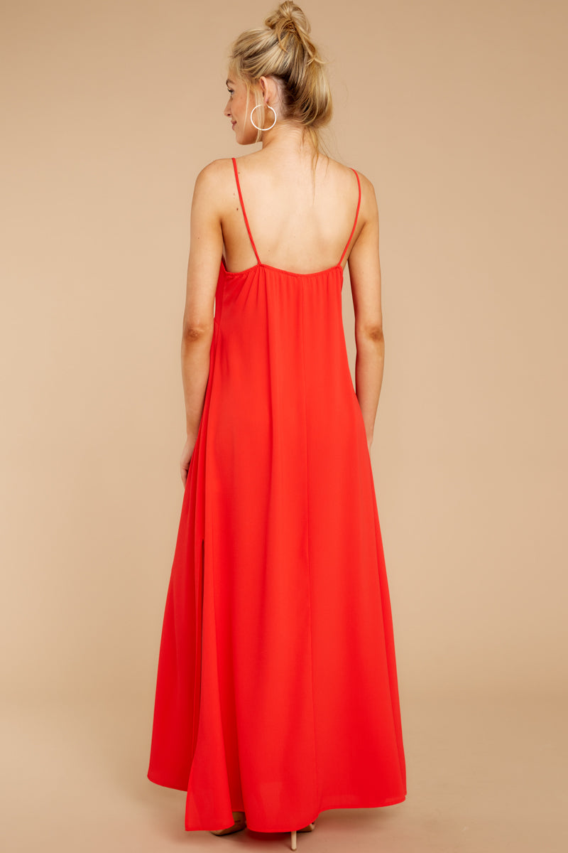 7 Wait And See Red Maxi Dress at reddressboutique.com