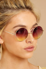 2 Catch A Glimpse Rose To Yellow Sunglasses at reddressboutique.com